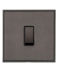 Executive Concealed Fix Plate Light Switch & Socket Range - Flat Screwless Plate With Rounded Edges - Matt Bronze