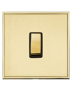 Executive Concealed Fix Plate Light Switch & Socket Range - Flat Screwless Plate With Squared Edges - Satin Brass