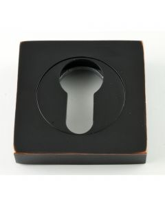 Euro Square Profile Escutcheon - Oil Rubbed Dark Bronze
