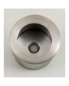 Circular Flush Fitting Edge Pull - 30mm Diameter x 20mm Depth - Satin Stainless Steel