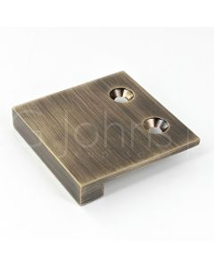 Face Fixing Finger Edge Pull - With Cube Edge Design - Available In 4 Sizes - Antique Brass