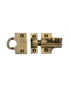 Fanlight Catch - Antique Brass