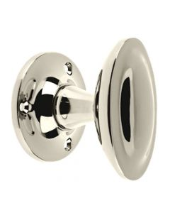 Oval Shape Stepped Design Mortice Door Knobs - PVD Polished Nickel