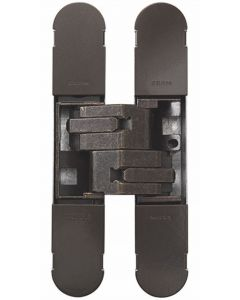 Fire Rated Concealed Adjustable Hinge For Invisible Doors - Tested To FD30 / FD60 - 160mm x 32mm - Dark Bronze