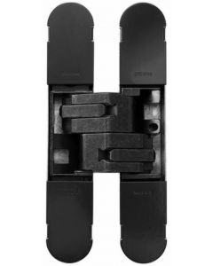 Fire Rated Concealed Adjustable Hinge For Invisible Doors - Tested To FD30 / FD60 - 160mm x 32mm - Matt Black