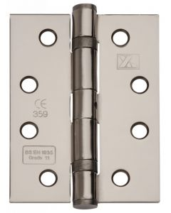 Ball Bearing Fire Rated Door Hinges -  Grade 11 - CE Marked - 102mm x 76mm - Black Nickel