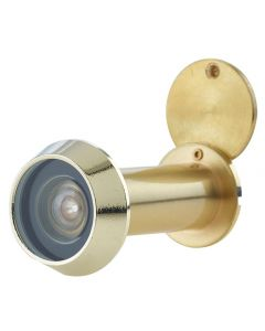 60 Minute Fire Rated Door Viewer - Spy Hole For Front Doors 35mm - 55mm Thick - Satin Brass