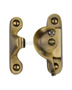 Fitch Pattern Sash Fastener - Antique Brass