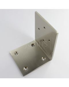 Floor Bracket For Electro-Magnetic Fire Door Holder - Satin Nickel