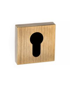 Euro Profile Escutcheon - Light Antique Brass