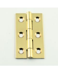 Small Polished Brass Cabinet Hinges - 50mm x 28mm