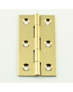 Small Polished Brass Cabinet Hinges - 64mm x 35mm