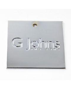 G Johns & Sons Ltd - Finish Sample Swatch - 50mm x 50mm - Polished Chrome