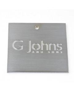 G Johns & Sons Ltd - Finish Sample Swatch - 50mm x 50mm - Satin Chrome