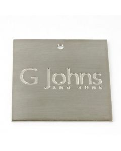 G Johns & Sons Ltd - Finish Sample Swatch - 50mm x 50mm - Satin Nickel