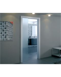 Eclisse Glass Sliding Pocket Door System - Single Door Kit Supplied With Glass Door - 100mm Finished Wall Thickness