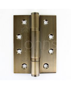 Polymer Bearing Grade 13 Hinges  - CE Marked - Fired Rated - Certifire Approved - 120kg Weight Limit - 102mm x 76mm - Antique Brass