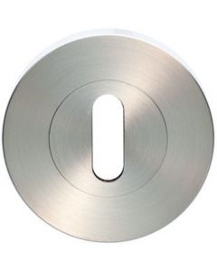Standard Profile Escutcheon - Grade 4 Collection - 55mm x 8mm - Screw On Rose - Satin Stainless Steel