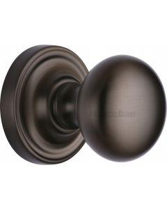 Hampstead Round Mortice Knobs - Matt Bronze