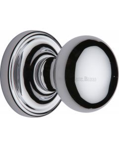Hampstead Round Mortice Knobs - Polished Chrome