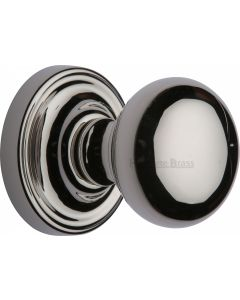 Hampstead Round Mortice Knobs - Polished Nickel