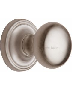 Hampstead Round Mortice Knobs - Satin Nickel