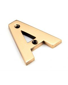 Heavy Simple Letters - Polished Bronze