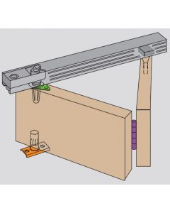 Bifold Door Gear System For Bi-Folding Wardrobe & Cupboard Doors Up To 35mm Thick & 14kg In Weight