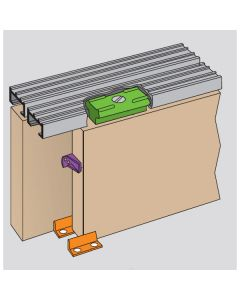 Slipper - Double Track Sliding Door Gear For Light Weight Furniture Doors Up To 900mm Wide & 9kg In Weight