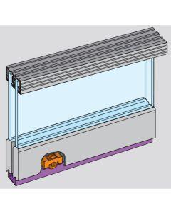Zenith - Double Track Sliding Door Gear For 6mm Glass Doors - Max Door Width 900mm - Max Door Weight 25kg