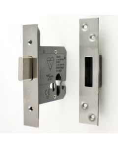 High Security Euro Profile Cylinder Dead Lock Case - Satin Stainless Steel