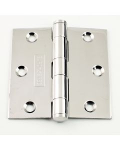 Plain Bearing Wide Leaf Hinges - 76mm x 76mm - Polished Stainless Steel
