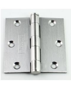 Plain Bearing Wide Leaf Hinges - 76mm x 76mm - Satin Stainless Steel