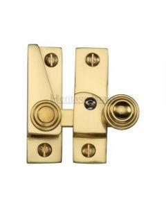 Hook Plate Sash Fastener - Polished Brass