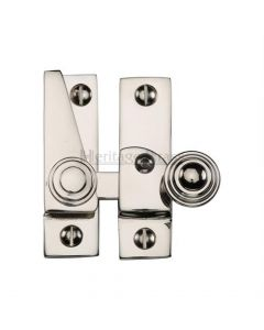 Hook Plate Sash Fastener - Polished Nickel