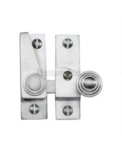 Hook Plate Sash Fastener - Satin Chrome