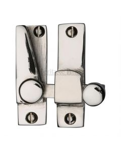 Straight Arm Looking Sliding Sash Window Fastener With Round Knob - Polished Nickel