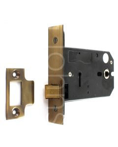Horizontal Mortice Latch - Deep Case For Use With Door Knobs - Florentine Bronze (Antique Finish)