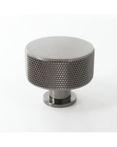 Henley Knurled Cupboard Knob - Black Nickel - Each