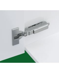 Inset Hinge With Soft Close For Up To 24mm Thick Doors + 0mm Mounting Plate
