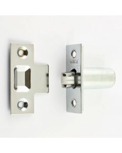 Adjustable Roller Ball Catch - Polished Chrome With Nylon Wheel