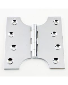Parliament Projection Hinges - Polished Chrome - 102mm x 102mm - 50mm Projection
