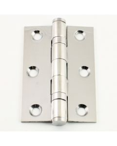 2 Ball Bearing Hinge - Polished Stainless Steel - 76mm x 50mm