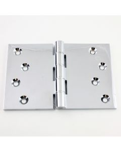 Broad Butt Projection Hinge - Polished Chrome - Available in Four Sizes