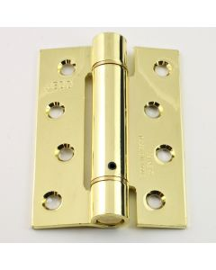 Self Closing Spring Loaded Hinges - 102mm x 76mm - Electro Plated Brass