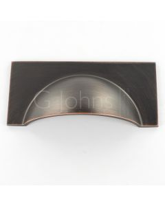 Monmouth Square Cup Handle - 104mm Overall Length - Oil Rubbed Dark Bronze - Each