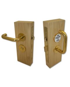 Accessible Toilet Lock & Handle Set For Disabled WC Toilets - Polished Brass