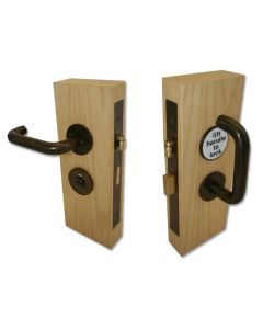 Accessible Toilet Lock & Handle Set For Disabled WC Toilets - Imitation Bronze Metal Antique - (IBMA)