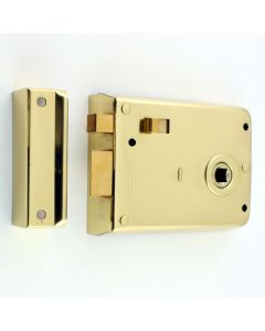 Surface Mounted Rim Latch With Snib Bolt - Polished Brass
