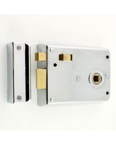 Surface Mounted Rim Latch With Snib Bolt - Polished Chrome